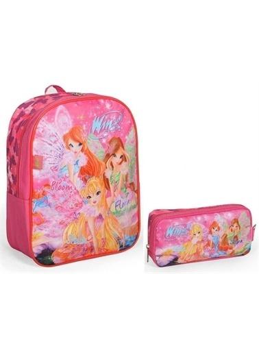 Yaygan Winx Club Kız Çocuk Pembe İlkokul Çantası Seti 63084 Renkli